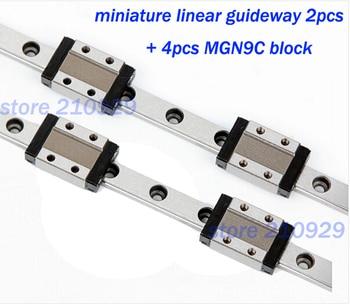 miniature linear guides guideway 2pcs L1000mm + 4pcs MGN9C block