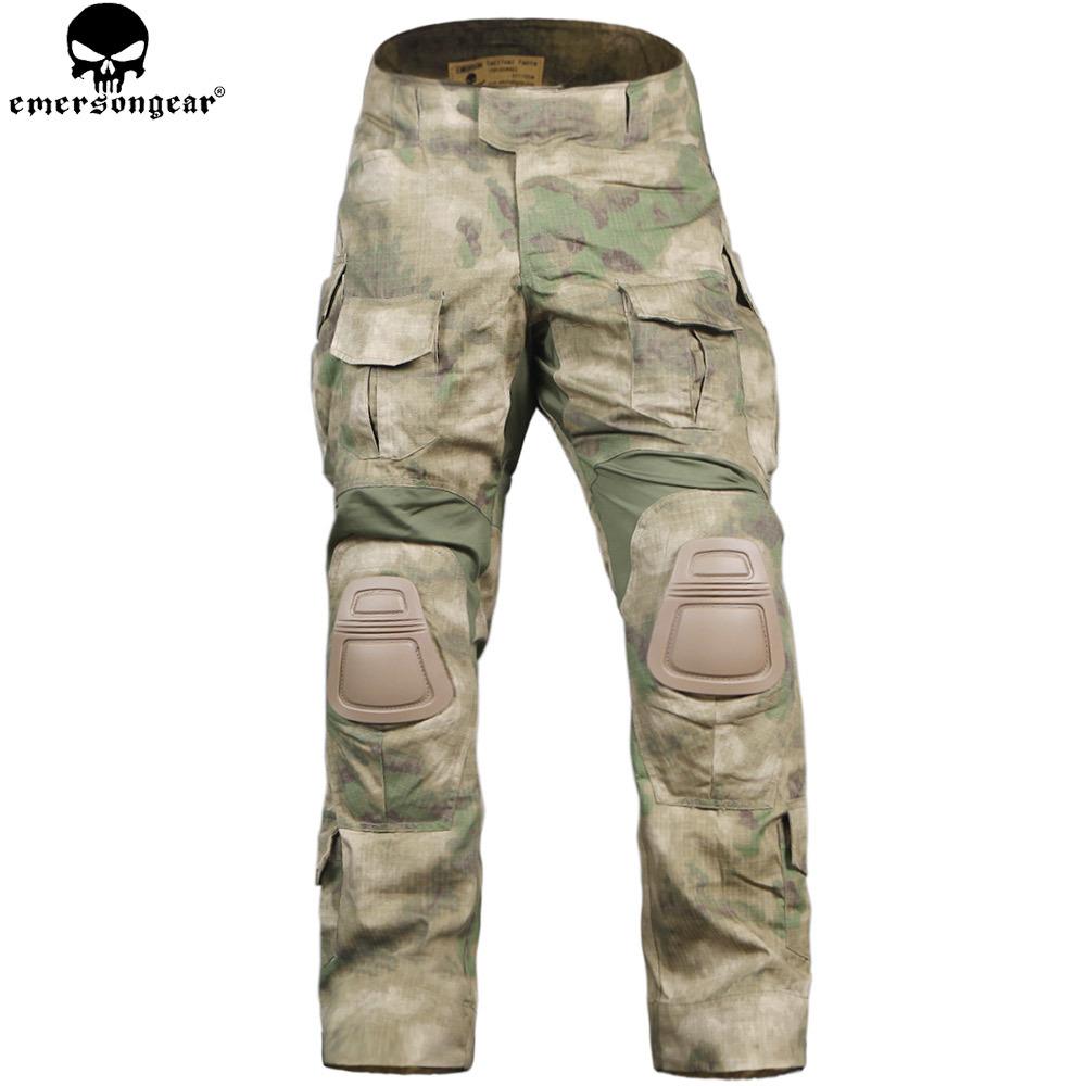EMERSONGEAR Hunting Pants with Knee Pads Airsoft Military Army Combat Pants Camouflage Suit Multicam ATFG scoyco motorcycle riding knee protector extreme sports knee pads bycle cycling bike racing tactal skate protective ear