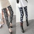 Warm Fleece Lined Print Leggings for Women Winter Black Milk Spandex Thermal Slim Pattern Leggins