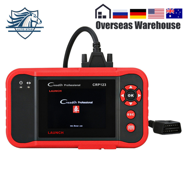 Best Price LAUNCH CRP123 Code Scanner Creader Support for Multi-Brand Cars Diagnostic Tool Creader CRP 123 Car Scan Tool Fast Shipping