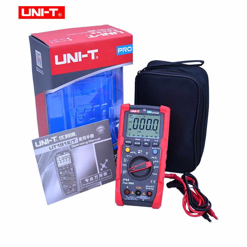 디지털 멀티 미터 UNI-T UT191E, DC AC 전압 전류 옴 미터, 정전 용량 주파수 다이오드/연속 테스터 ACV LPF/LoZ ACV