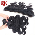 Brazilian Virgin Hair Body Wave 4Pcs Human Hair Weave With 13X2 Frontal Unprocessed Brazilian Lace Frontal Closure With Bundles