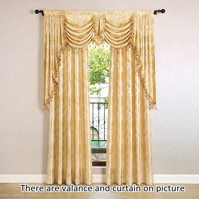 Online Shop European Golden Royal Luxury Curtains for Bedroom ...