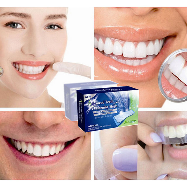 2pcs Lot Teeth Whitening Strips Gel Care Oral Hygiene Clareador