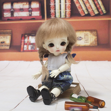 Новое поступление 1/6 1/8 Bjd SD ob11 маленькая кукла парик Модный стиль мохер провод кукла парик волосы для кукол аксессуары