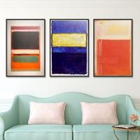Mark Rothko Abstract American Style painting Frameless Unframed Oil Painting on Canvas Waterproof airbrush square poster art