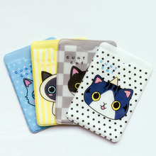 N17 Kawaii Fresh Cute Cat Kitten Card Holder Waterproof Card Protection Tool School Office Supply Student Stationery Kids Gift