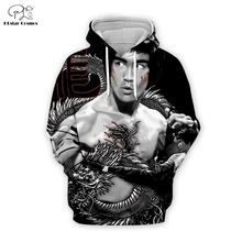 PLstar Cosmos Bruce Lee 3D Printed Hoodie/Sweatshirt/Jacket/shirts Mens for boy Tees hip hop Movie Fans Kun apparel black tops