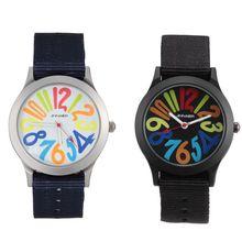 New fashion nylon strap quartz watch men and women sports brand children's digital watch for Gift