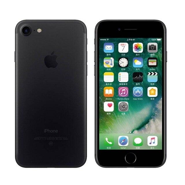 100% Original iPhone 7 Quad Core 4.7 Inch 2GB RAM 32/128/256GB ROM 12.0MP Camera LTE IOS IPS Touch ID Unlocked Used Mobile Phone 5