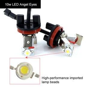 Image 4 - 2x Canbus LED עיני מלאך אור 10w 20w 30w 60w H8 LED HID הנורה עבור BMW e60 E61 E63 E64 E70 X5 E71 X6 E82 E87 E89 Z4 E90 E91 E92