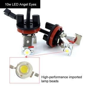 Image 4 - 2x Canbus LED Angel Eyes light 10w 20w 30w 60w H8 LED HID Bulb For BMW E60 E61 E63 E64 E70 X5 E71 X6 E82 E87 E89 Z4 E90 E91 E92