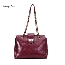 Tonny Kizz women handbag PU leather shoulder bags with diamond lattice large casual tote capacity sac a main
