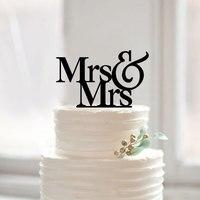 Lesbische Bruidstaart Topper, Mrs Mrs Engagement Cake Topper Gepersonaliseerde Dezelfde Sex Bruidstaart Toppers, Bruidstaart Decor
