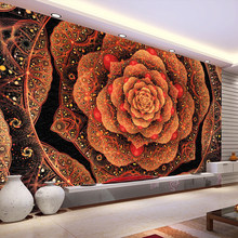 Papel pintado de pared 3D personalizado papel pintado Simple moderno patrón de flores hogar Decoración Interior arte Mural pared sala de estar dormitorio(China)