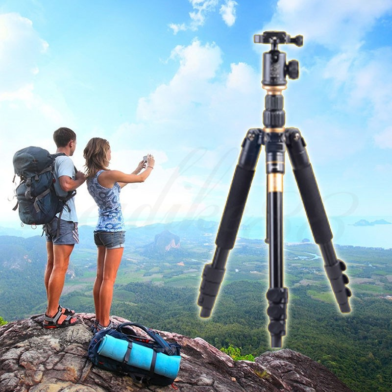 DHL משלוח חינם באיכות גבוהה Q-570 נייד חצובה Pro חדרגל & הכדור ראש קומפקטי נסיעות עבור SLR DSLR מצלמה משלוח חינם