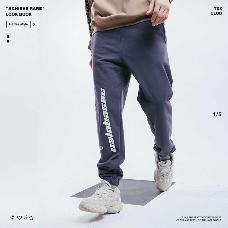 45d7c2451 ... CALABASAS Sweatpants Men Kanye West Season5 Cargo Beam Pants Men Hip Hop  Punk Skatebaords Sports Harem ...
