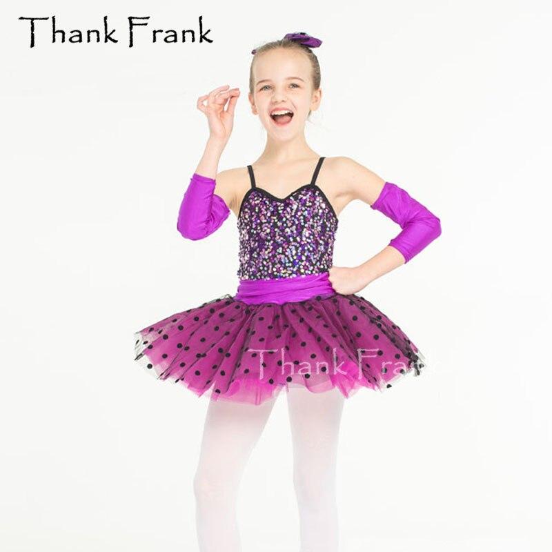 New Girls Tutu Ballet Dress Colorful Sequins Kids Adult Camisole Polka Dots Ballerina Costume Women Professional Dance Costumes