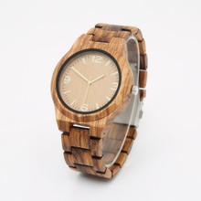 GNART01 Mens Wood Watch relogio masculino de luxo reloj hombre 2018 Wrist Watch Large Dial Wooden Watch Brand Male