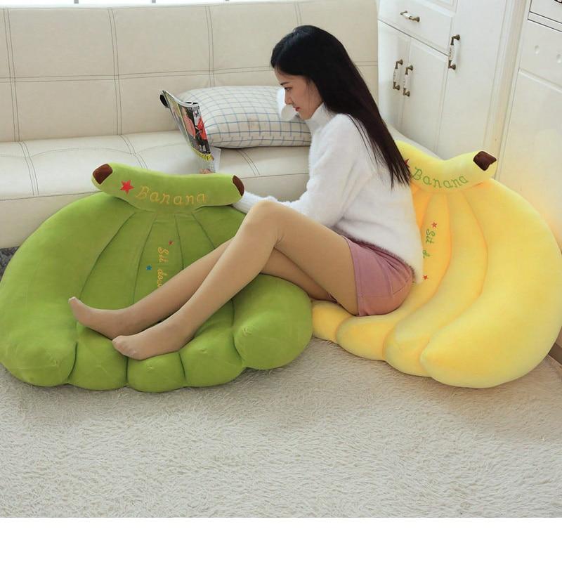Large cute stretch banana sofa pillow creative fruit chair simple lazy simulation cartoon stretch banana sofa pillow - 2