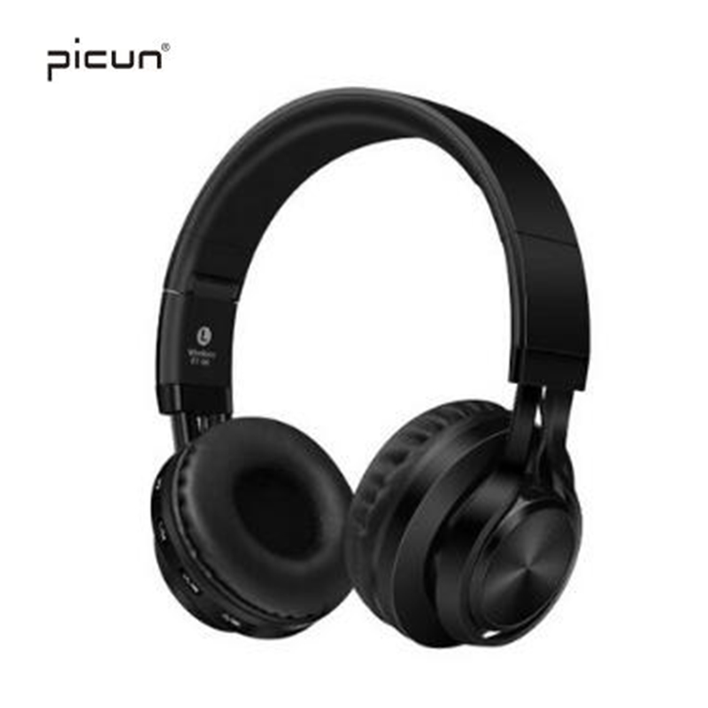 Picun BT-06 Portable Wireless Bluetooth Bass Stereo Headphones Support TF Card FM Radio Headset For Samsung iPhone Xiaomi PC MP3 portable wireless bluetooth speaker high fidelity bass sound stereo subwoofer dual loudspeaker fm radio usb mic tf card function