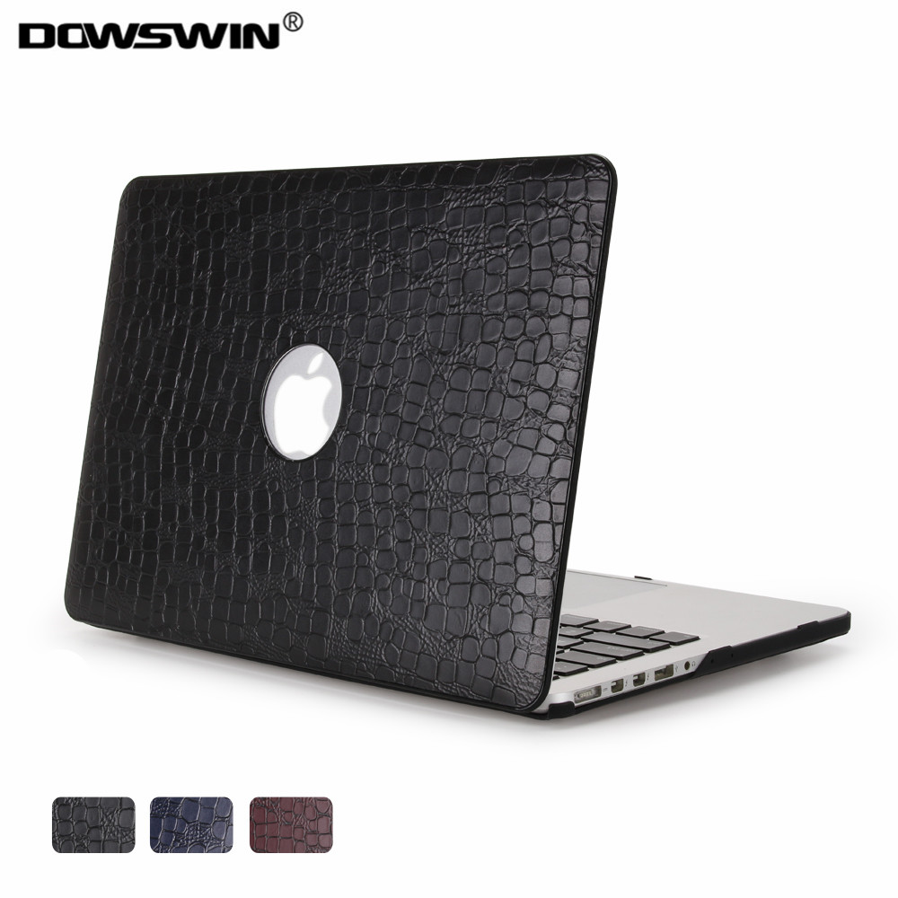 case for macbook.dowswin pu matte transparent round hole can see logo,for macbook 11 air 13 pro with retina hard plastic cover