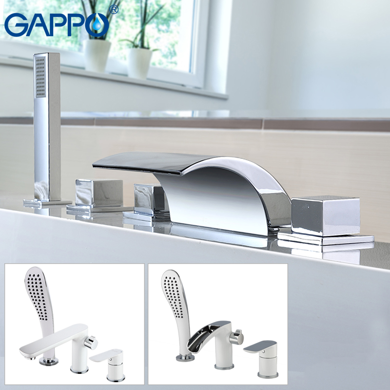 GAPPO bathtub faucet bath mixer shower bathroom shower faucet tap set waterfall bath faucet bathtub mixer banheira faucet ledeme bathtub faucet modern style bath faucet in wall waterfall mixer tap bathtub crane bathroom shower faucet set l2619