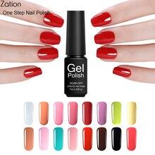 Zation Fashion Beauty Nail Polish Lacquer UV Led Gel Soak Off Nail Gel colors Vernis Gel 3 in1 One Step Varnish Polish gel 7ml