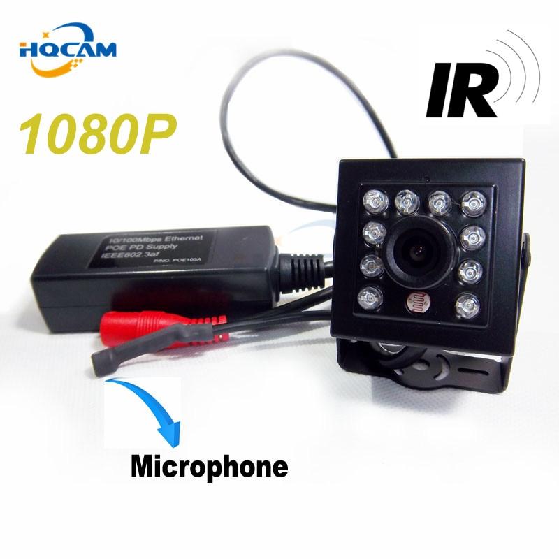 HQCAM 1080P IR CUT POE mini ip camera night vision camera 940nm IR Mini Ip Camera Covert Network Onvif Miniature poe ip camera