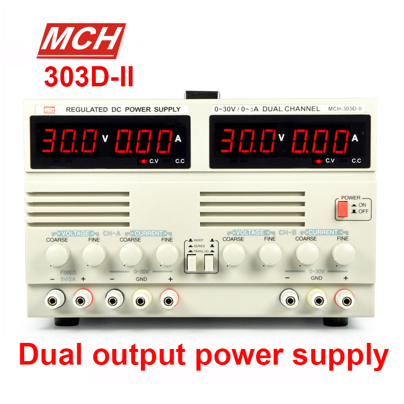 MCH-303D-II DC power supply can be connected in series parallel dual adjustable power supply Laboratory power supply dc power supply uni trend utp3704 i ii iii lines 0 32v dc power supply