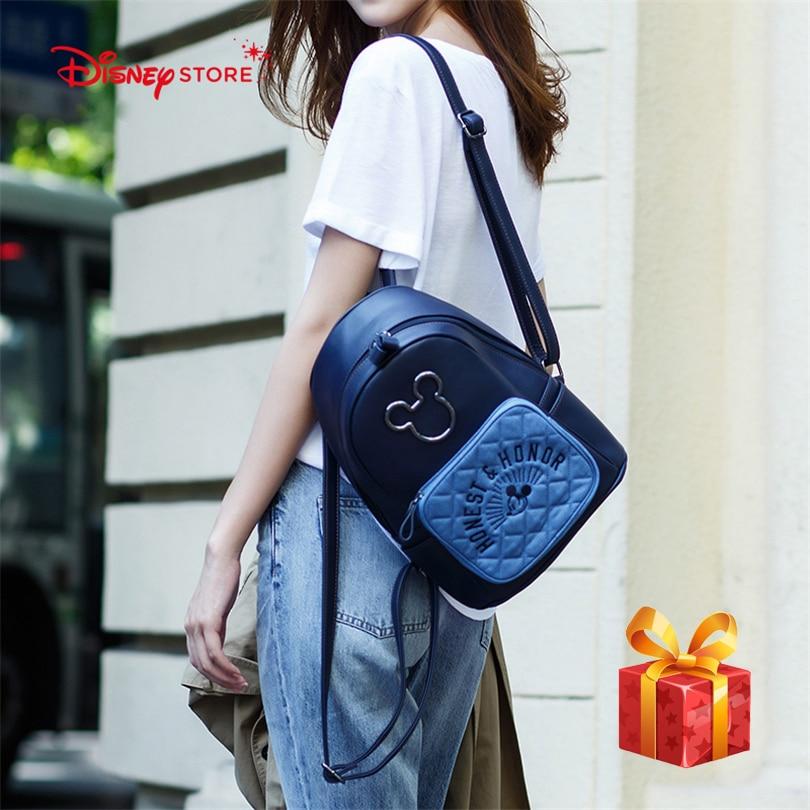 Sac à dos femme Disney Mickey Mouse de haute qualité en cuir PU cartable sacs pour adolescent fille sac étudiant A249
