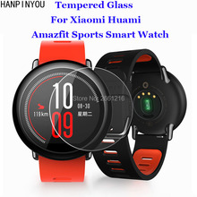 For Xiaomi Huami Amazfit Sports SmartWatch Tempered Glass 9H 2.5D Premium Screen Protector Film For Xiaomi Huami Amazfit