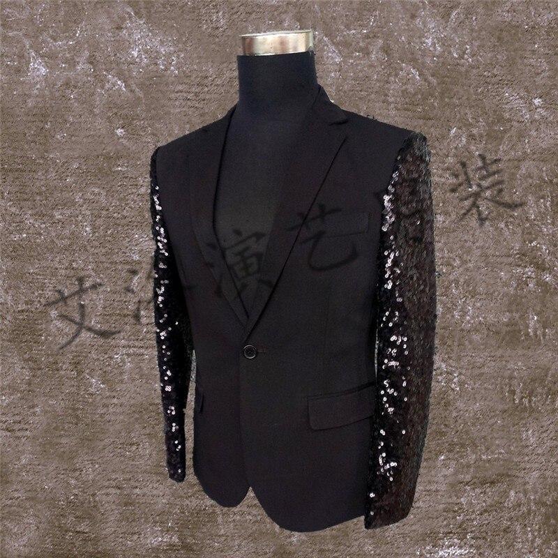 6xl Danse Costume Xxs 2018 Bigbang Studio Vêtements Chanteur Performance Hommes Ds Costumes Noir Plus Paillettes Photo La Taille De dwTBwfq8x