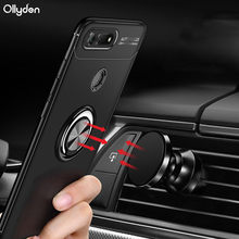 For Huawei Honor V20 case Silicone Car Holder Magnetic Finger Ring Stand TPU Shockproof Case For Huawei Honor View 20 V20 Coque(China)