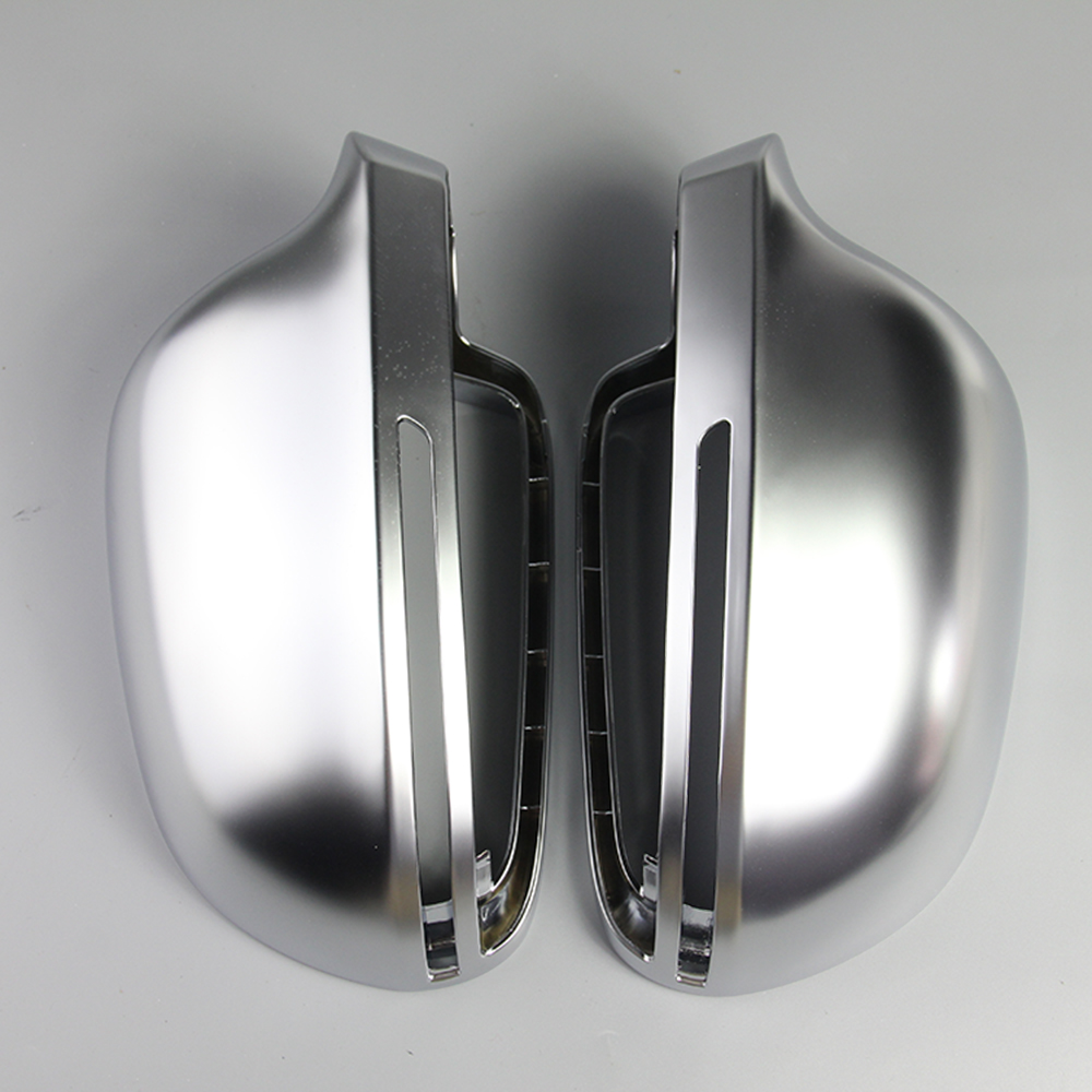 VGEBY 1 Pair of Matte Chrome Rearview Mirror Cover Protection Cap for Audi B8 A4 A5 A6 S4 RS4 S6 RS6 Car Mirror Cover free ship turbo k03 29 53039700029 53039880029 058145703j n058145703c for audi a4 a6 vw passat 1 8t amg awm atw aug bfb aeb 1 8l