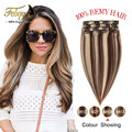 Best Quality Brazilian Hair Clip In Extensions 100g Tic Tac Cabelo Humano Full Head Human Hair Extensions With Hair Clip Ins