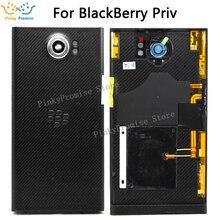 האיכות הטובה ביותר סוללה כיסוי שיכון דלת בחזרה מקרה עבור BlackBerry Priv עם אחורי מצלמה עדשת נייד טלפון להחליף חלקים