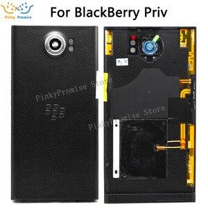 Image 1 - Najlepsza wysokiej jakości bateria pokrywa obudowa drzwi obudowa tylna dla BlackBerry Priv z tylny obiektyw aparatu telefon komórkowy wymień części