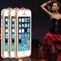 Корона стиль металла горный хрусталь бампер bling роскошные алмаз прозрачного хрусталя задняя крышка телефона чехол для iPhone 6 PT6137