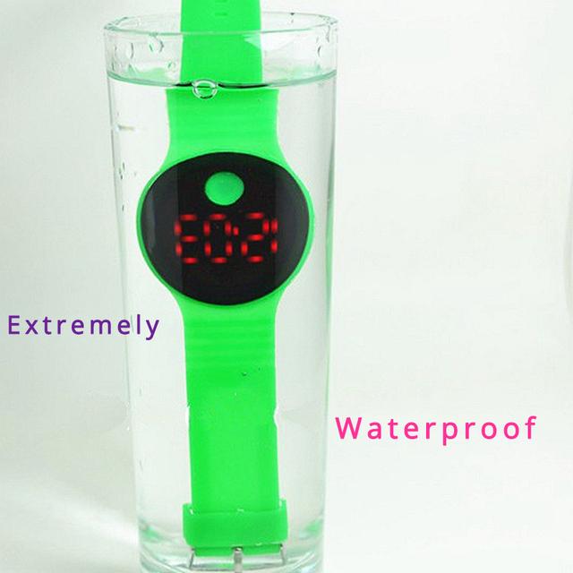 JOYROX Child Watch Fashion Waterproof LED Watches For Girls Boys Ultra-thin Design Silicone Strap Children Watches Kids Clock