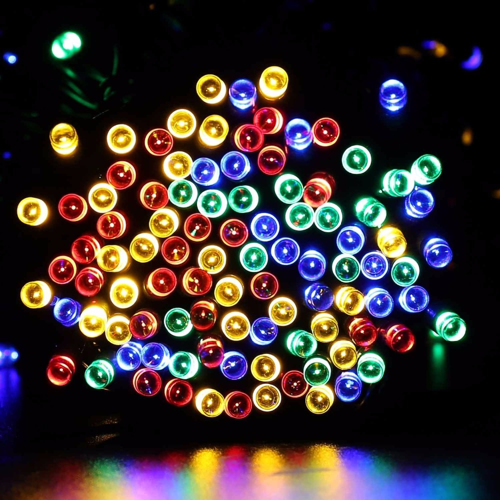 christmas lights outdoor 200 led 22m light solar fairy string lighting lamp christmas decorations for home party fence path lawn in solar lamps from lights - Solar Powered Outdoor Christmas Decorations