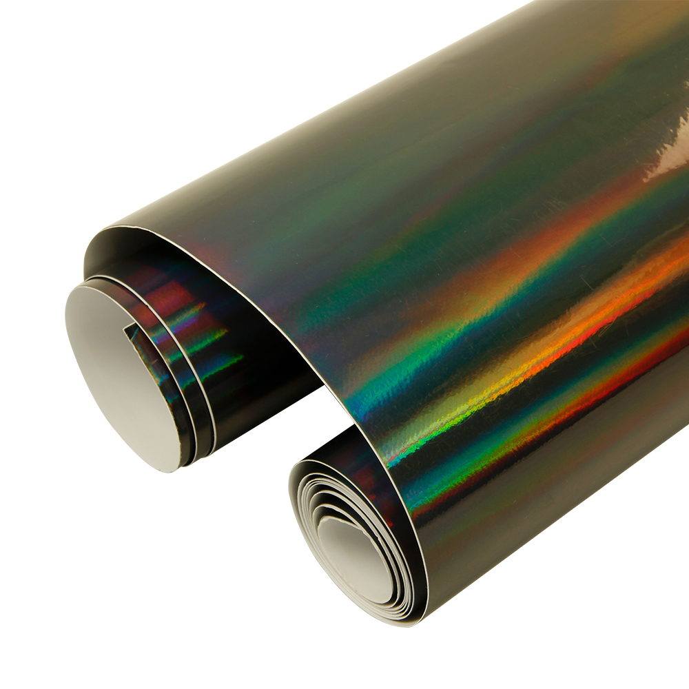 1.49x0.3m/58.6x12Black Laser Chrome Holographic Vinyl For Car Wrapping Sticker Chameleon Vehicle Wrap Film