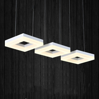 Fashion rectangle ring pendant light, led dining room suspendu lamp, restaurant long cord hanging lighting