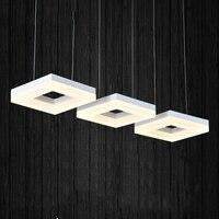 Fashion rectangle ring pendant light, led dining room suspendu lamp, restaurant long cord hanging lighting
