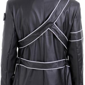 Image 5 - Athemis Sword Art Online Kirito leather Cosplay Costume custom made jacket or accessories