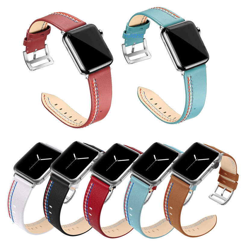 20PCS Genuine Leather Strap Band for Apple Watch 42mm 44mm Series 4 3 2 1 High
