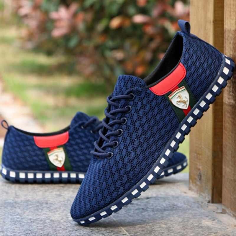 40107f06fa4 ... Juyouki Male Casual Shoes For Men Canvas Shoes Outdoor Sneakers Air  Mesh Flats Brand Breathable Ferrary ...