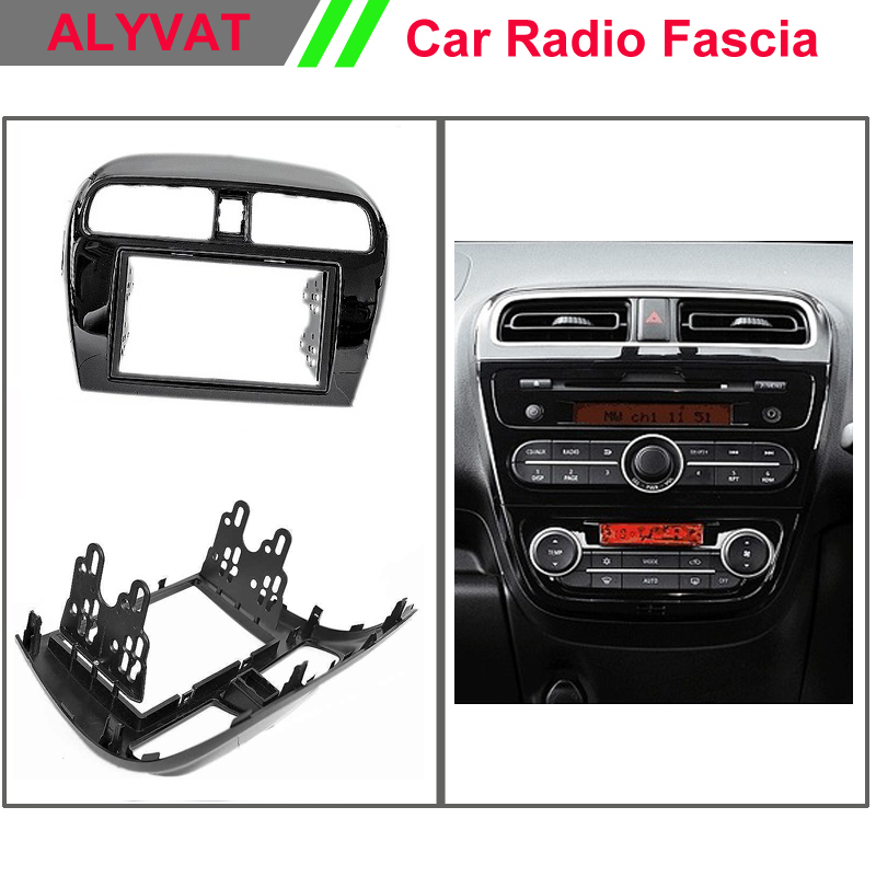 Car Radio DVD Fascia Frame installation dash mount kit stereo install for MITSUBISHI Mirage 2012+, Space Star 2013+ lanxiang mirage 2000 kit mirage kit