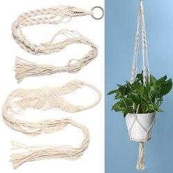 Macramé plante cintre panier pot de fleurs porte-plante macramé suspendu Vintage noué corde de levage jardin décoration de la maison