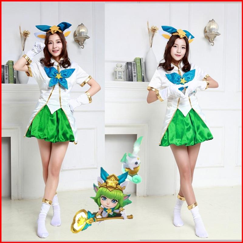 LOL Star guardian Magical Girl Lulu skin  cosplay Costume cartoon game Dress